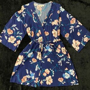 Floral Wrap Dress w/ Pockets - Yumi Kim